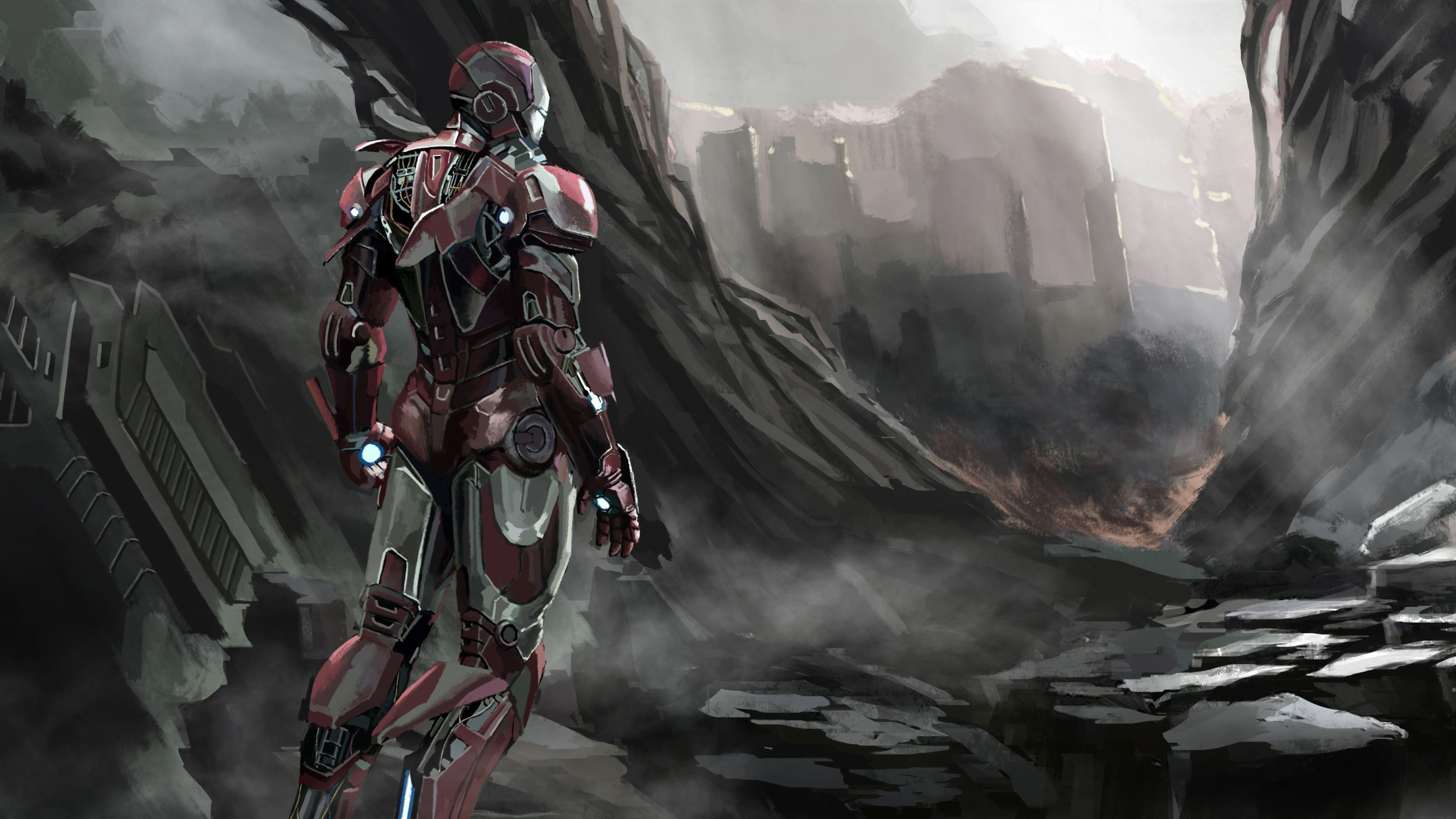 Iron Man Art 2019 4k fondos de pantalla de superhéroes, fondos de pantalla de iron man, hd