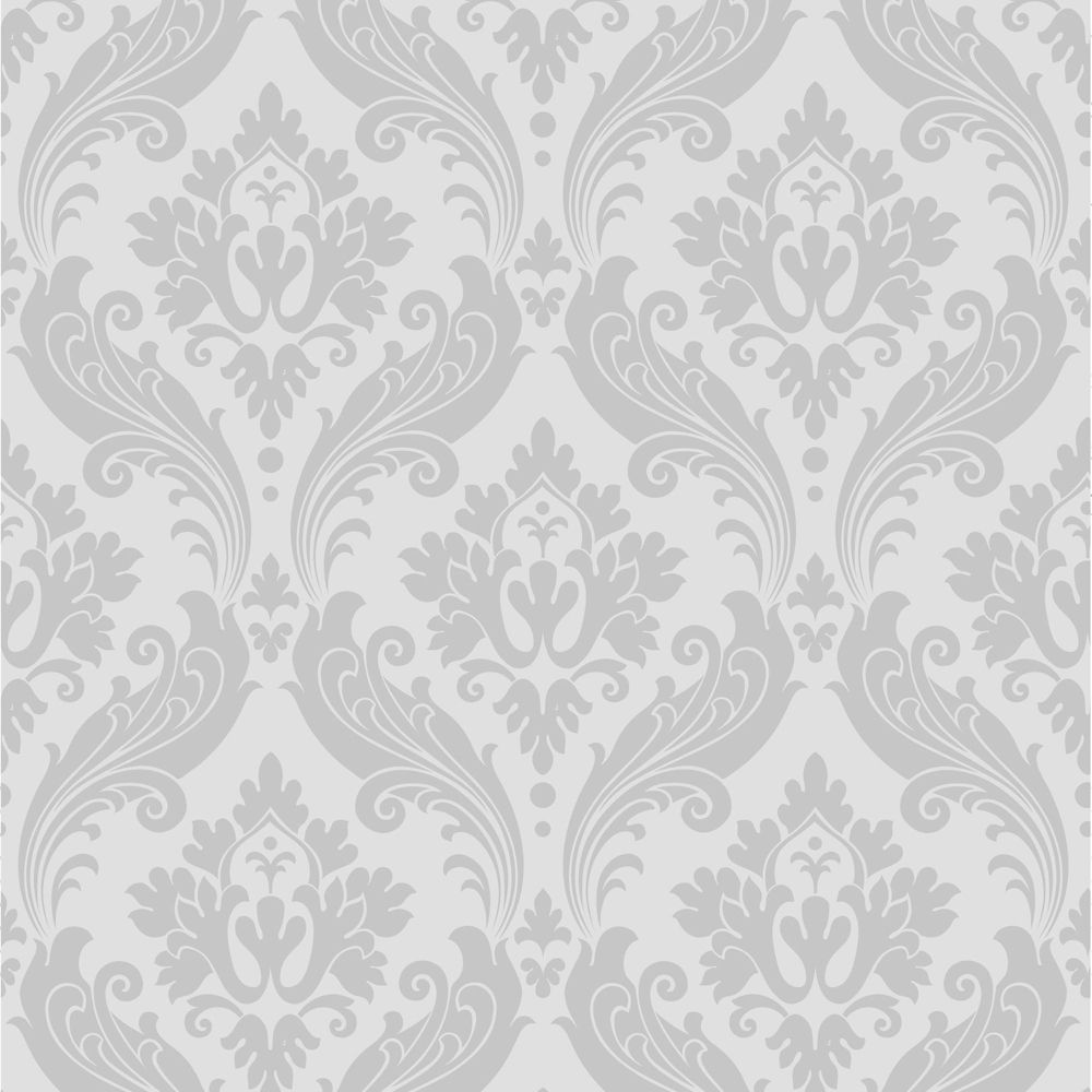 1000x1000 Graham & Brown Vintage Flock Gray fondo de pantalla | The Home Depot Canada
