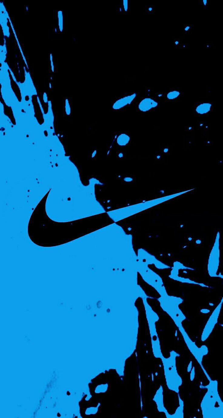Azul Nike Wallpaper Iphone 6 Resolución - Azul Y Negro Nike Logo