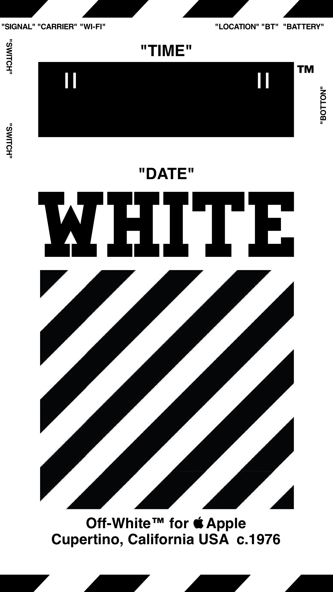 PAPEL PINTADO Off-White ™ IPHONE 壁紙 18/4 / 3-8 OFFWHITE オ フ ホ ワ イ ト