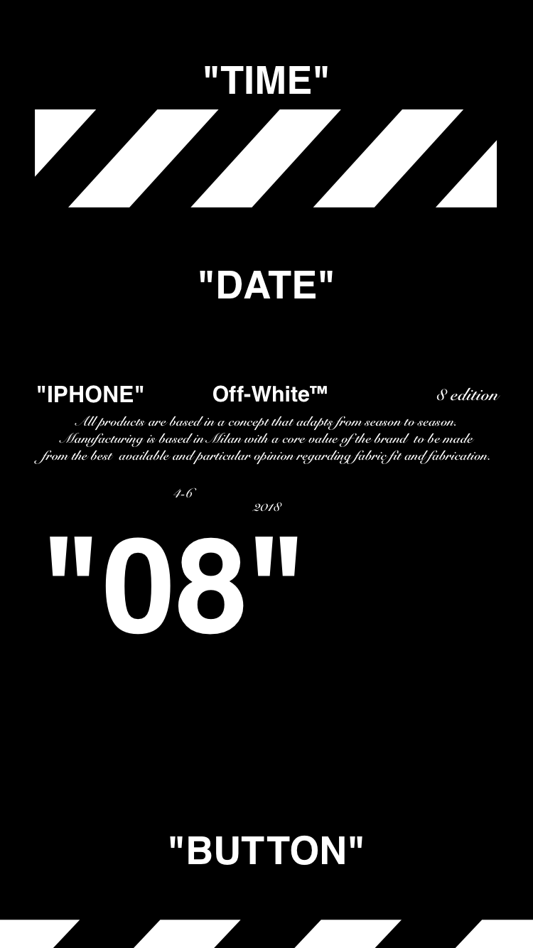 "Off-White ™ ""IPHONE 8"" ""PAPEL PINTADO"" ""壁紙"" ""OFFWHITE"" 18/4 / 10-11 オ フ"