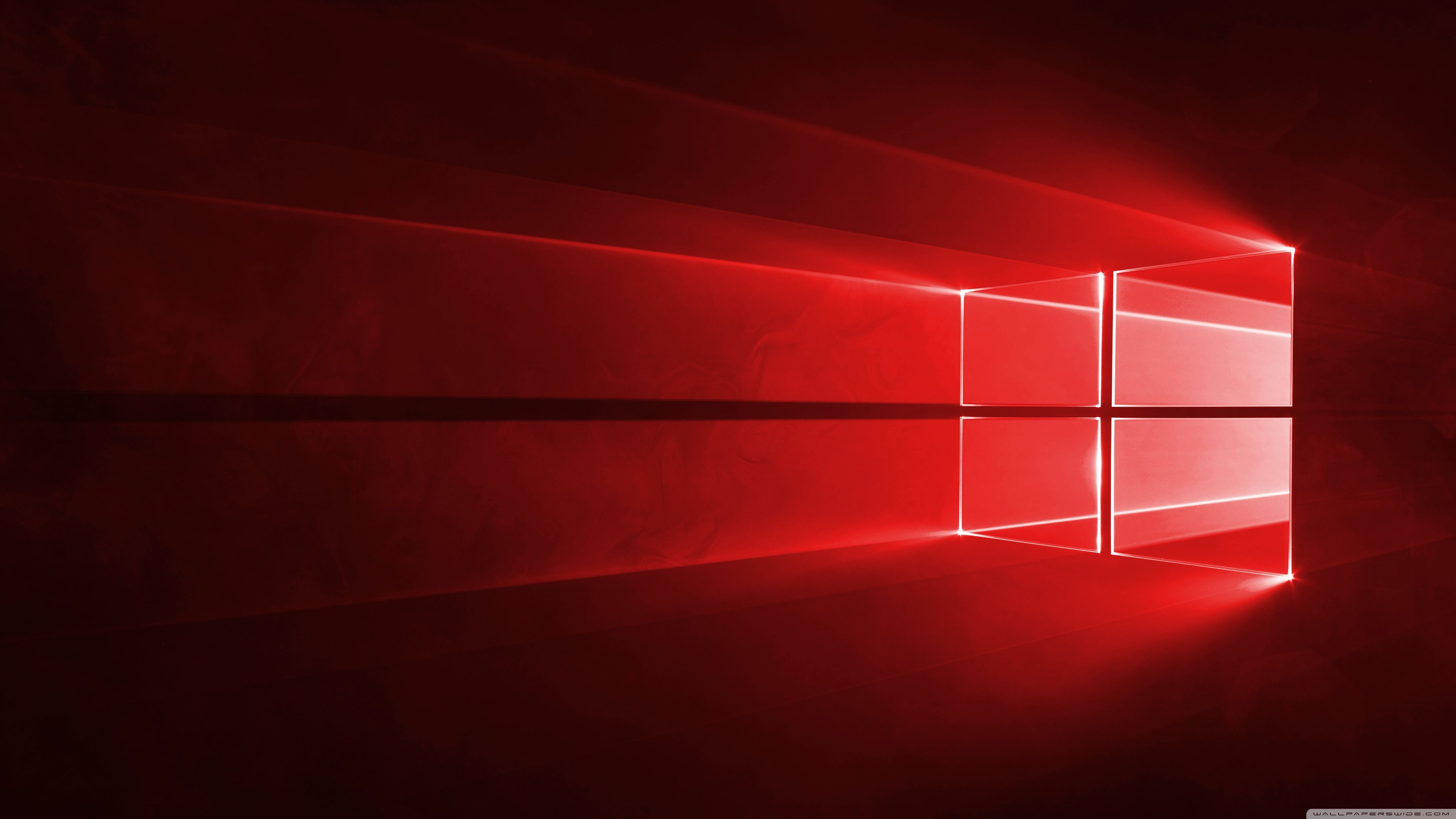 Windows 10 Red en 4K ❤ 4K HD fondo de escritorio para • Wide y Ultra