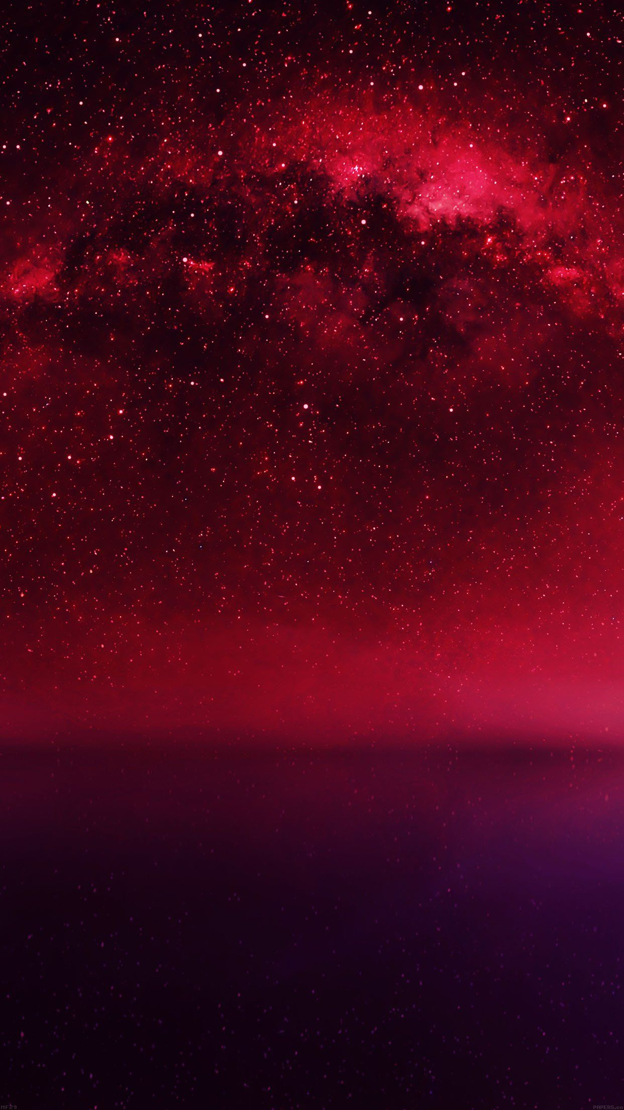 Cosmos Red Night Live Lake Space Starry fondo de pantalla de Android - Android