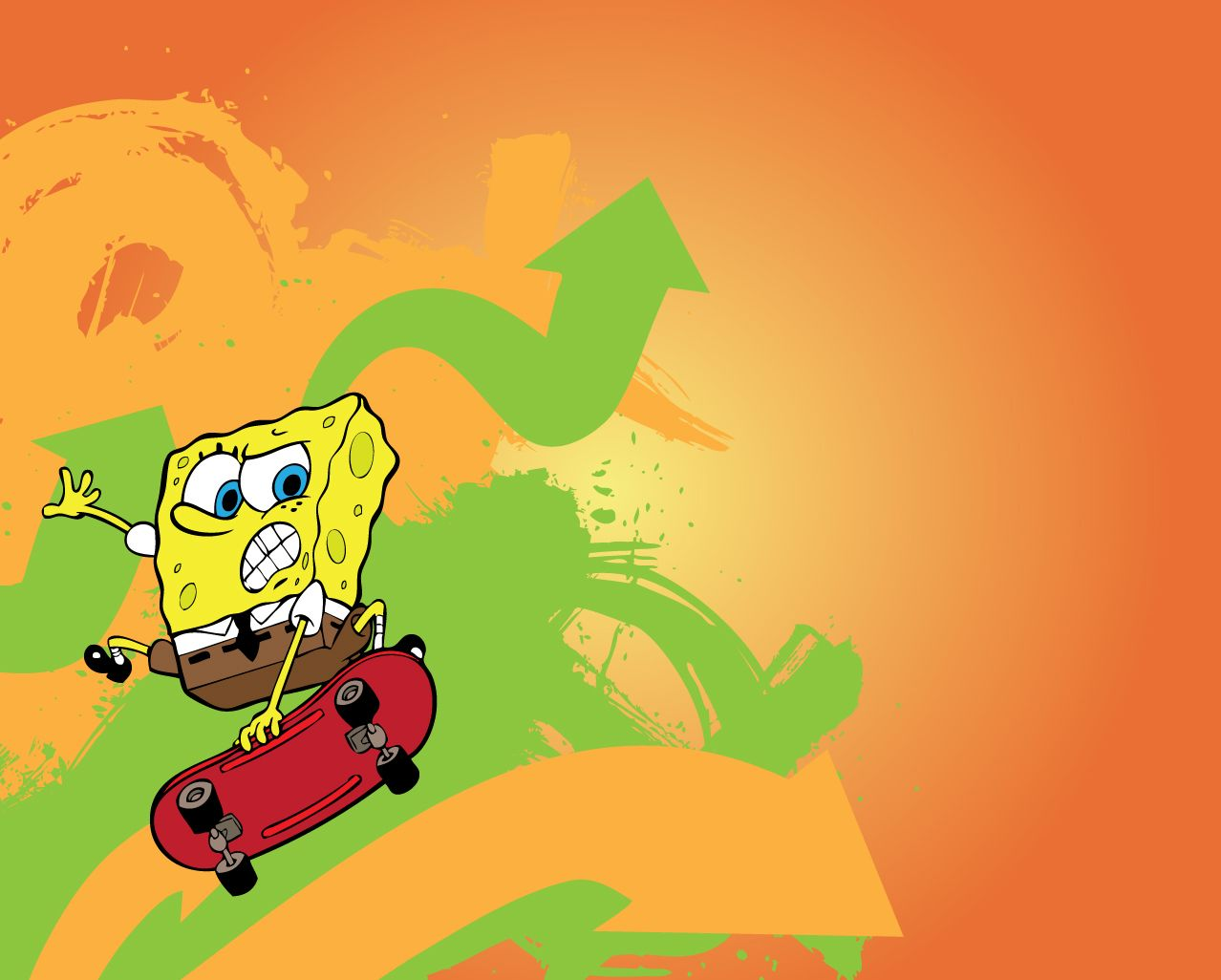 Spongebob Wallpaper para su escritorio Spongebob Wallpaper - Skate
