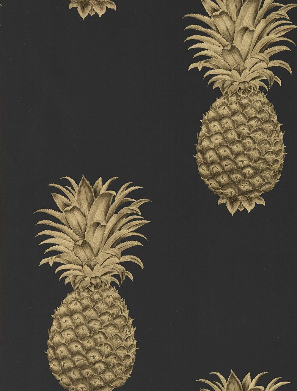 Gold Pineapple Wallpapers
