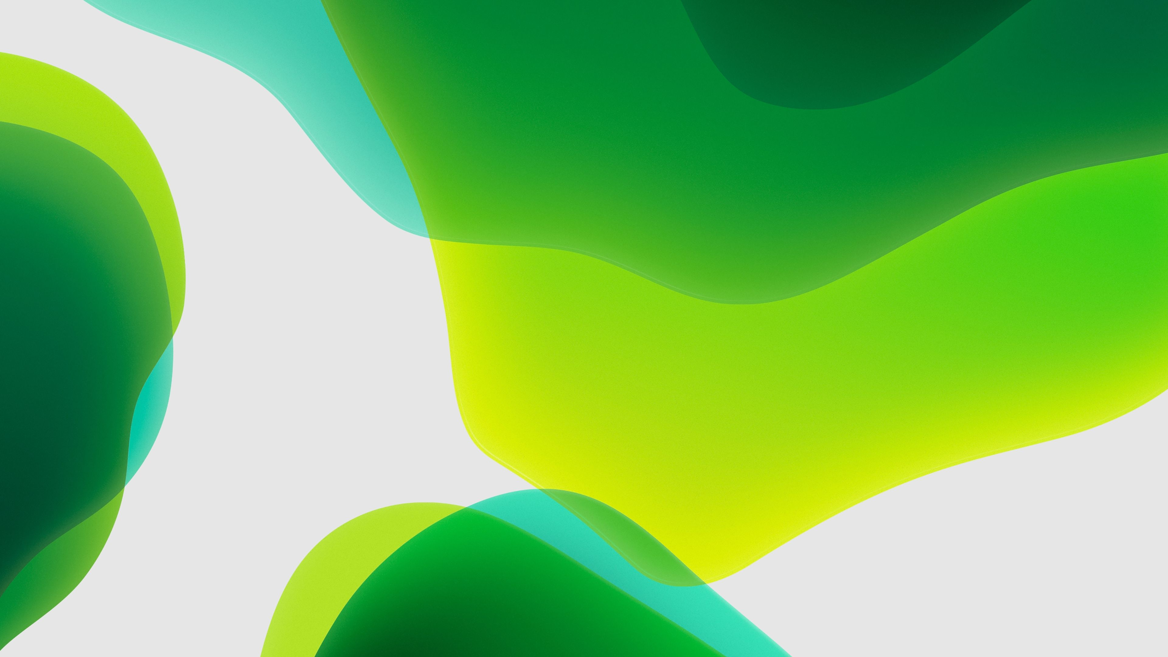 3840x2160 iOS 13 iPadOS Green Fondos de pantalla | HD Wallpapers | ID # 28571