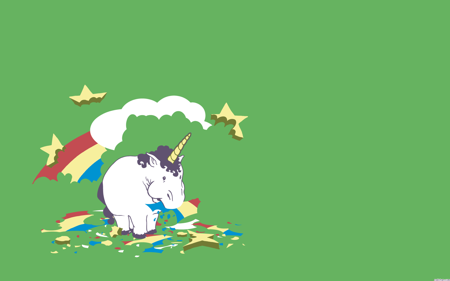 Unicorn Eating arco iris, arco-íris wallpaper - unicórnios wallpaper
