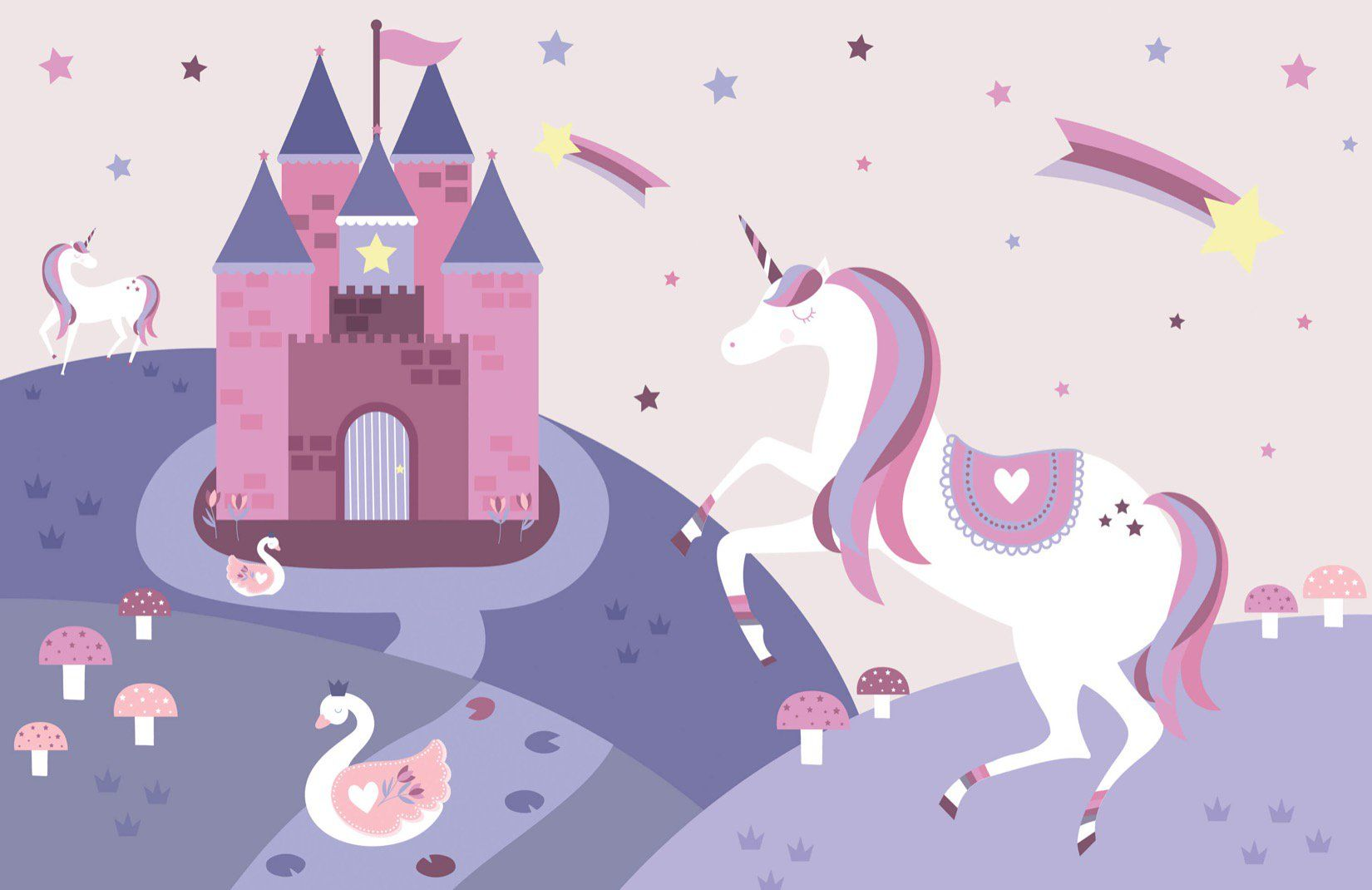 Fairytale Unicorn Wallpaper Mural de pared | MuralesWallpaper.co.uk