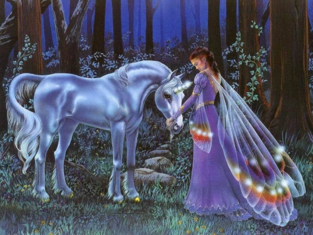 Unicorn and Fairy Wallpaper - Unicorns Wallpaper (6348903) - fanpop