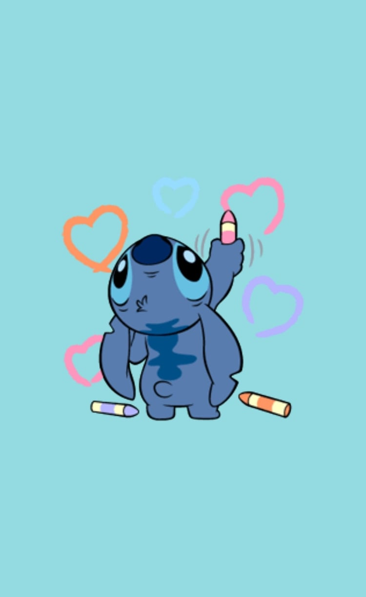 Stitch Wallpaper compartido por @princesserislockscreen