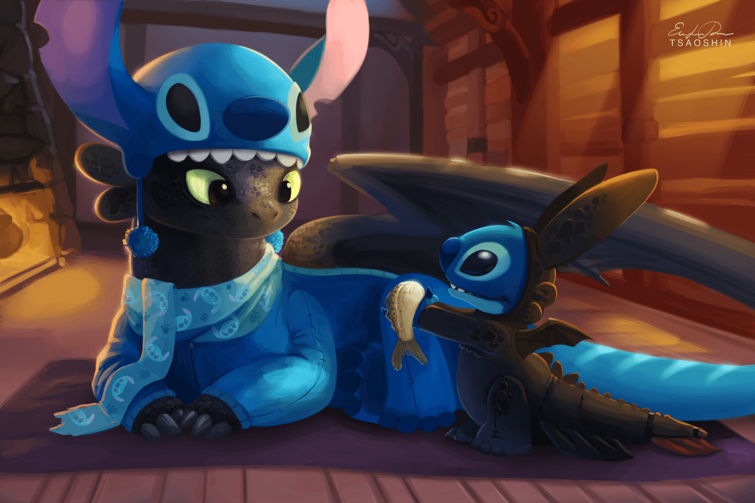 Toothless And Stitch Fondos de Escritorio